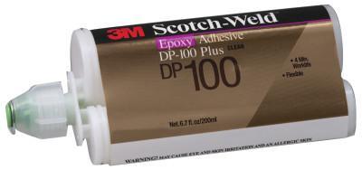 3M INDUSTRIAL Scotch-Weld Two-Part Epoxy Adhesives, DP100 Plus, 1.7 oz, Dou-Pak, Clear