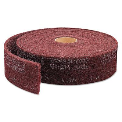 3M™ ABRASIVE Scotch-Brite Clean and Finish Roll Pads, Very Fine, Maroon
