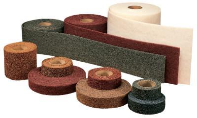 3M ABRASIVE Scotch-Brite Clean and Finish Roll Pads, Fine, Maroon, 4 per case