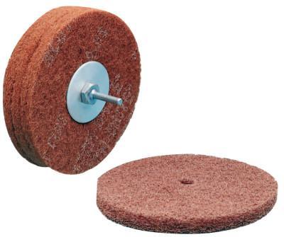 3M™ ABRASIVE Scotch-Brite High Strength Discs, 6 X 1/2, 4,000 rpm, Aluminum Oxide,Very Fine