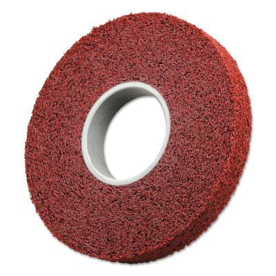 3M™ ABRASIVE Scotch-Brite Metal Finishing Wheels, 6 X 1 X 1, Coarse, 6000 rpm, Aluminum Oxide