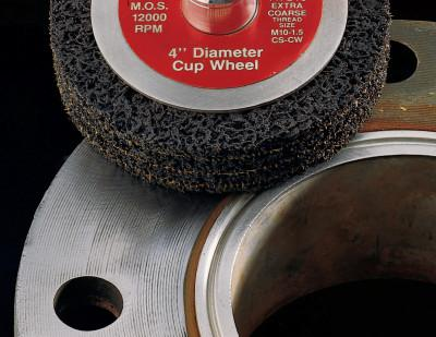 3M™ ABRASIVE Scotch-Brite Clean and Strip Cup Wheels, 4 in, Extra Coarse, Silicon Carbide