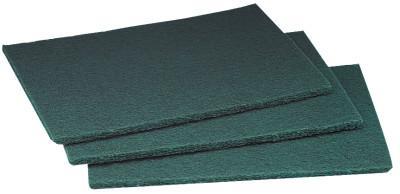 3M ABRASIVE Scotch-Brite General Purpose Scouring Pad, Synthetic Fiber, Green