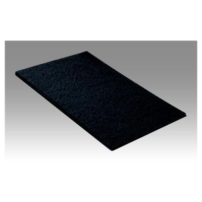 3M ABRASIVE Scotch-Brite 6448 Light Duty Hand Pads, Silicon Carbide, Dark Gray