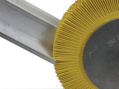 3M™ ABRASIVE Scotch-Brite™ Radial Bristle Brush, 8 in D x 1 in W, 6,000 rpm, Grit 80
