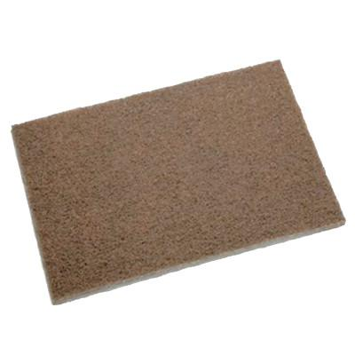 3M ABRASIVE Scotch-Brite Heavy Duty Hand Pad, 6 in x 9 in, Tan