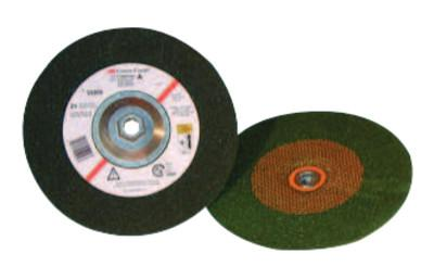 3M™ ABRASIVE Green Corps Depressed Center Wheel, 7 in Dia, 1/4 in Thick, 5/8 Arbor, 24 Grit