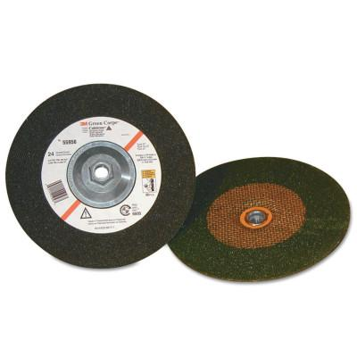 3M™ ABRASIVE Green Corps Depressed Center Wheel, 4 in Dia, 1/4 in Thick, 24 Grit