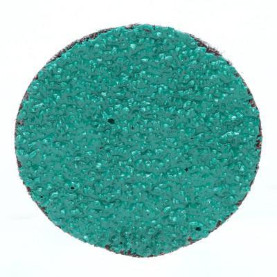 3M ABRASIVE Green Corps Roloc Discs, Aluminum Oxide, 2 in Dia., 50 Grit