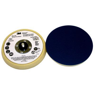 3M ABRASIVE Stikit Disc Pads, 5 in Dia, Soft, Beige