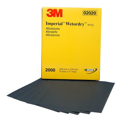 3M ABRASIVE Wetordry Paper Sheets, Silicon Carbide, 1000 Grit, 5 1/2 x 9 in