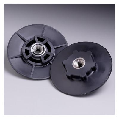 3M ABRASIVE Disc Pad Hubs, 4 1/2 in Dia, Hard, Black