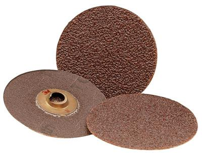 3M™ ABRASIVE Roloc Discs 361F, Aluminum Oxide, 2 in Dia., 24 Grit