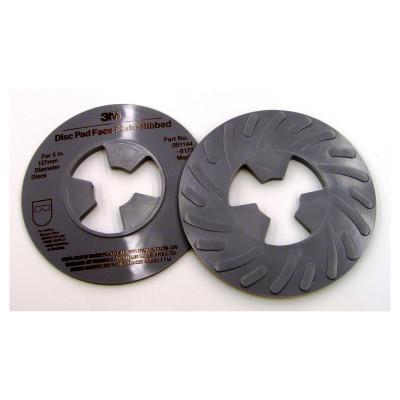3M ABRASIVE Disc Pad Face Plates, 5 in Dia, Medium, Gray