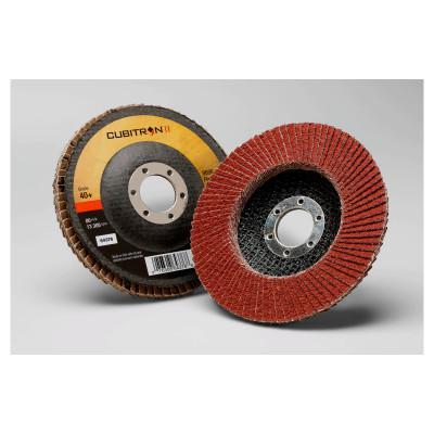 3M ABRASIVE Cubitron II 969F Flap Discs, Ceramic, 4 1/2 in Dia, 7/8 in Arbor, 40+ Grit