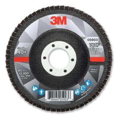 3M Flap Disc, 4.5 in x 7/8 in, 769F T27, 40+ Grit