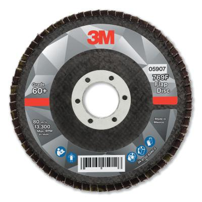 3M Flap Disc, 4.5 in x 7/8 in, 769F T29, 60+ Grit