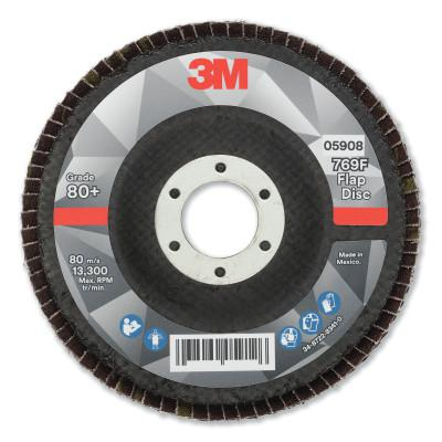 3M Flap Disc, 4.5 in x 7/8 in, 769F T29, 80+ Grit