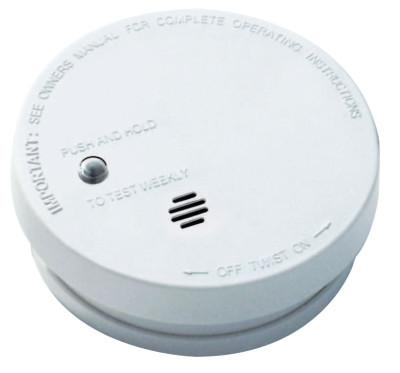 KIDDE Battery Operated Smoke Alarms, Smoke, Ionization, 5.6 in Diam