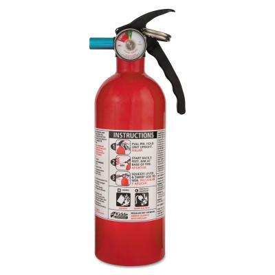 KIDDE Automobile Fire Extinguishers, Class B and C Fires, 2 lb Cap. Wt.