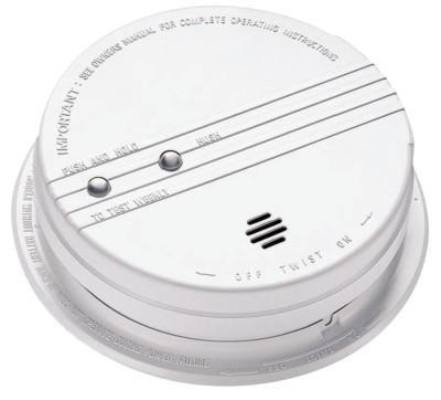 KIDDE Interconnectable Smoke Alarms, With Hush, Photoelectric