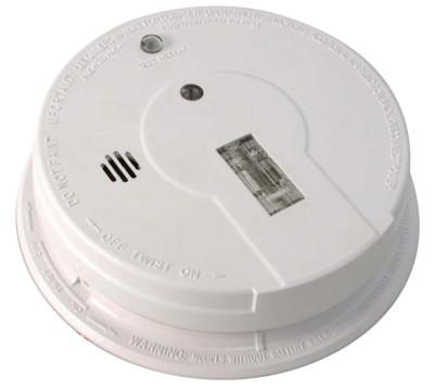 KIDDE Interconnectable Smoke Alarms, With Safety Light, Ionization