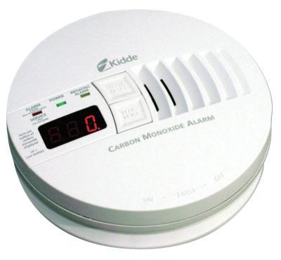 KIDDE Carbon Monoxide Alarms w/ Digital Display, Carbon Monoxide, Electrochemical