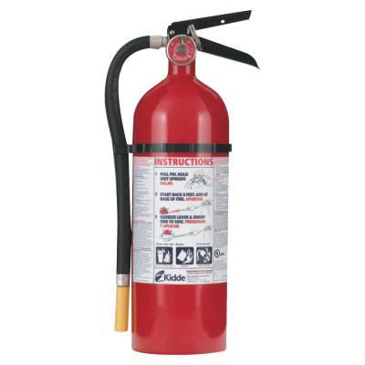 KIDDE ProLine Multi-Purpose Dry Chemical Fire Extinguisher-ABC Type, Vehicle Bracket