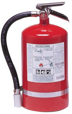KIDDE Halotron I Fire Extinguishers, For Class B and C Fires, 11 lb Cap. Wt.