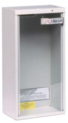KIDDE Extinguisher Cabinets, Surface Mount, Steel, Tan, 20 lb or 2.5 gal