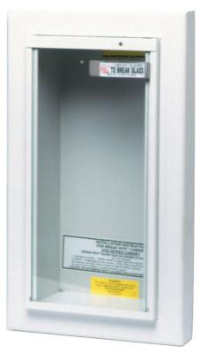 KIDDE Extinguisher Cabinets, Semi-Recessed, Steel, Tan, 5 lb