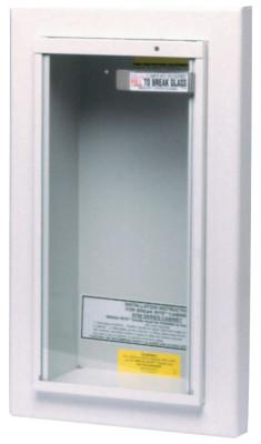 KIDDE Extinguisher Cabinets, Semi-Recessed, steel, Tan, 10 lb