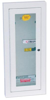 KIDDE Extinguisher Cabinets, Semi-Recessed w/Keyed Lock, Galvanized Steel, Tan, 5 lb