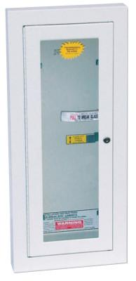KIDDE Extinguisher Cabinets, Semi-Recessed w/Keyed Lock, Galvanized Steel, Tan, 10 lb