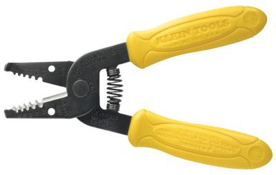 KLEIN TOOLS Wire Strippers, 6 1/4 in, 10-18 AWG Solid, Yellow