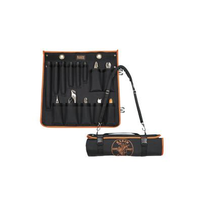 KLEIN TOOLS UTILITY INSULATED 13-PCTOOL KIT W/ROLL-UP CASE