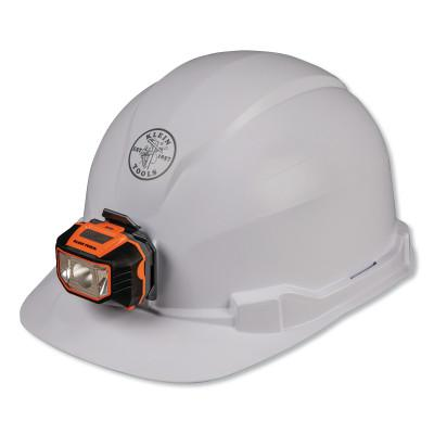 KLEIN TOOLS Hard Hat, Non-vented, Cap Style with Headlamp