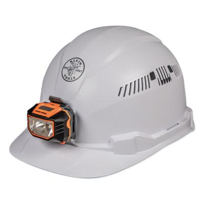 KLEIN TOOLS Hard Hat, Vented, Cap Style with Headlamp