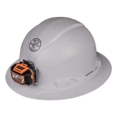 KLEIN TOOLS Hard Hat, Non-vented, Full Brim Style with Headlamp