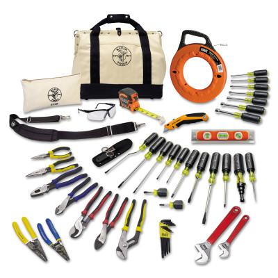 KLEIN TOOLS 41 Piece Journeyman's Tool Sets, 20 1/2 in W x 14.6 in D x 11.4 in H