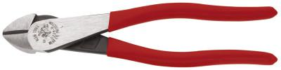 KLEIN TOOLS High-Leverage Diagonal Cutting Pliers, 8 in, Bevel, Plastic Dipped