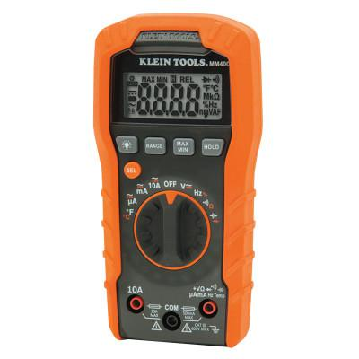 KLEIN TOOLS MM400 Digital Multimeters, 19 Function, 32°F to 104°F, 10A (AC/DC)