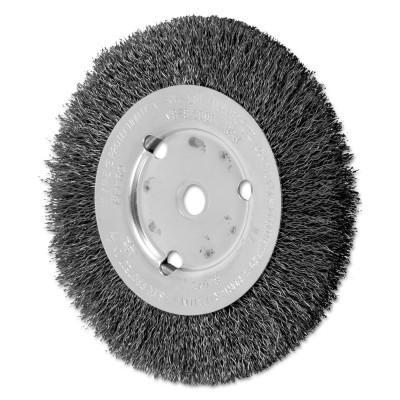 PFERD Narrow Face Crimped Wire Wheel Brush, 6 D x 5/8 W, .014 Carbon Steel, 8,000 rpm