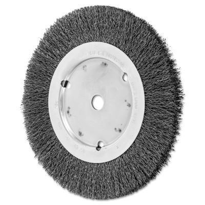 PFERD Narrow Face Crimped Wire Wheel Brush, 8 D x 5/8 W, .014 Carbon Steel, 6,000 rpm
