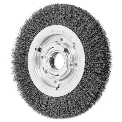 PFERD Medium Crimped Wire Wheel Brush, 8 D x 1 1/16 W, .014 Carbon Steel, 4,500 rpm