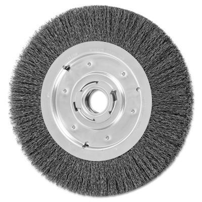 PFERD Medium Face Crimped Wire Wheel Brush, 10 D, .014 Carbon Steel Wire, 3,600 rpm