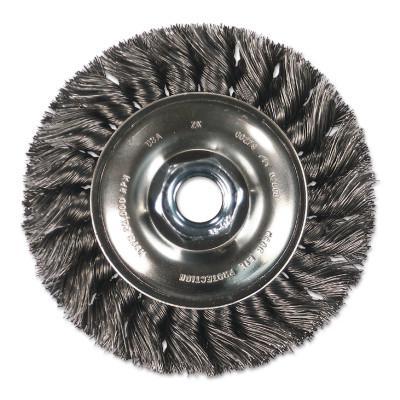 PFERD Standard Twist Single Row Knot Wheel, 4 D x 5/8 W, .014 Steel Wire, 20,000 rpm