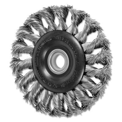 PFERD Standard Twist Knot Wheel, 3 in D, .014 in Stainless Steel, 25,000 rpm