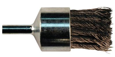 "PFERD Straight Cup Knot End Brushes, Carbon Steel, 3/4"" x 0.014"""