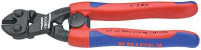 """KNIPEX CoBolt Compact Bolt Cutter, 8 in, 1/4"""";1/8"""";3/16"""";7/32"""" Cut Cap, Lever W/Spring"""